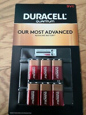 Lot of 12x NEW DURACELL Quantum 9V,  9 VOLT Alkaline Batteries EXP in 2022 !