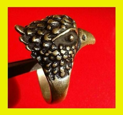 EXTREMELY RARE Ancient RING VIKING BRONZE BIRD RING artifact VERY Stunning