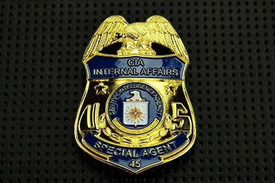 Full Size Special Badge US Police #45 Gold Fake Badge for Fun