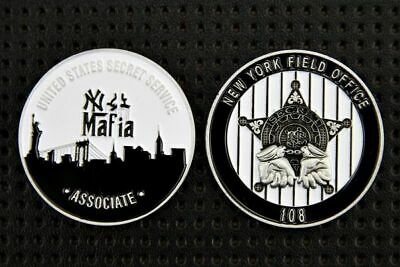 """Challenge Coin US NY Police """"Mafia"""" Silver Collection"""
