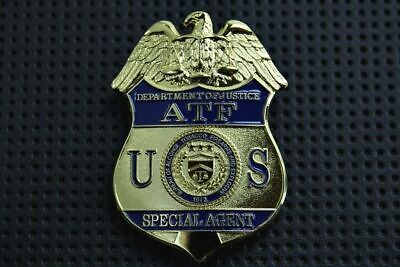 Collectible Uniform Costume US Police Badge Agent Gold
