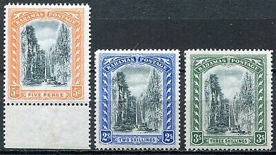 "Bahamas 1901 ""Queens Staircase"", SG 59 - 61, Mint Hinged, CV £87"