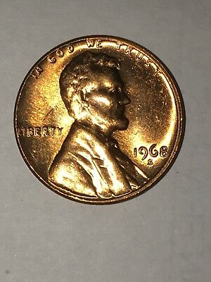 1968 S Red Brilliant Uncirculated Lincoln Memorial Cent Penny BU