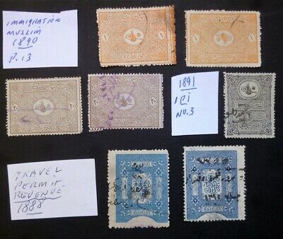 Turkey Ottoman revenue stamps lot - 1890-91
