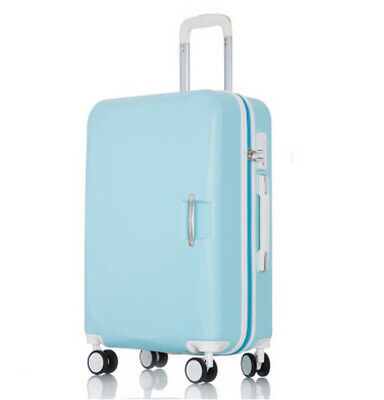D929 Blue Lock ABS Universal Wheel Travel Suitcase Luggage 26 Inches W