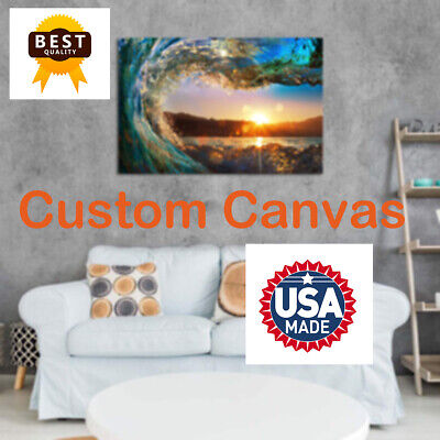 Custom your own photo on Canvas HD Printing Gallery wrapped Framed High Quality