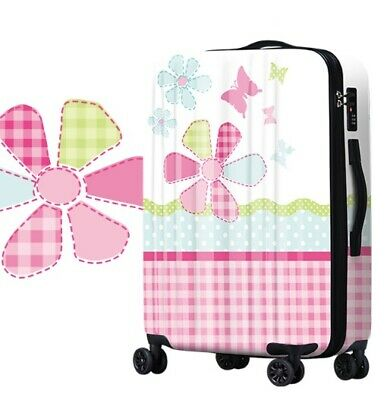 D770 Lock Universal Wheel Plant Pattern Travel Suitcase Luggage 20 Inches W
