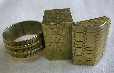 Antique 19th c Eastern European Jewish Community Silver Gold Plated Wedding Ring