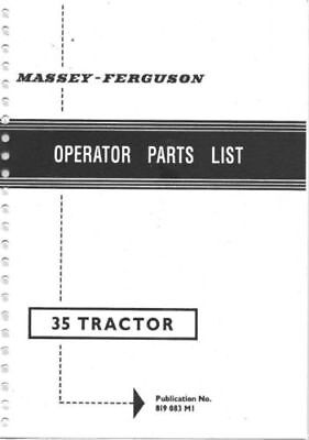 Massey Ferguson FE-35 Tractor Parts Manual (0016)