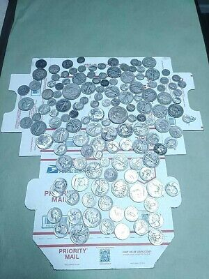 $37.60 Face Value Us Silver Coin Mixed Lot 1922-64 Dimes, Dollars Quarters Halve