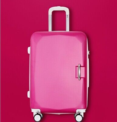 D922 Rose Red Lock ABS Universal Wheel Travel Suitcase Luggage 26 Inches W