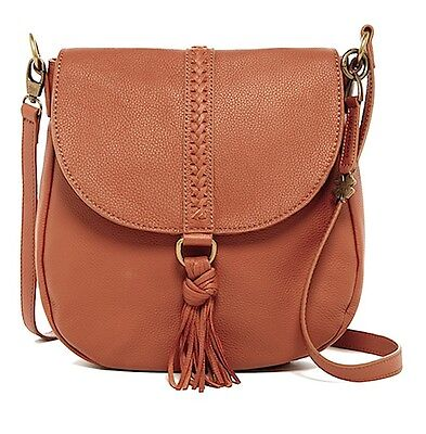 06f966f8f NWT $188 AUTHENTIC LUCKY BRAND Ali Tobacco Brown Leather Crossbody Tote Bag