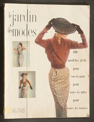 'jardin Des Modes' French Vintage Magazine Summer Fashion Issue May 1950