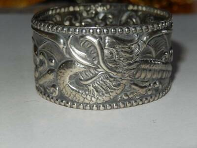 Antique Sterling Silver Dragon Veiled Prophet Pageant Napkin Ring 1900 St Louis