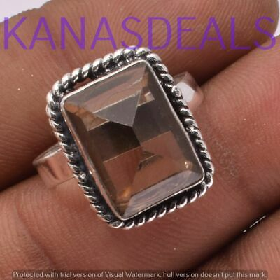 """Green Amethyst Ring 925 Sterling Silver Plated Ring Size 9"""" R-4262"""