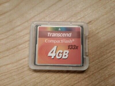 Transcend CF 4.0gb 133x High Speed Compact Flash Memory Card 4GB