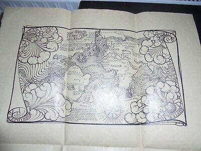 1925 Golden Hind Map, The World In The Time of Cabot, Drake, King George V