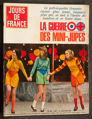 'jours De France' Vintage Magazine Mini-Skirt Issue 14 January 1964