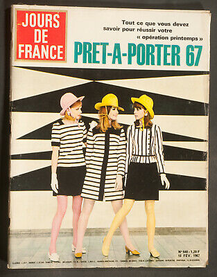 'jours De France' Vintage Magazine Pret-A-Porter Issue 18 February 1967