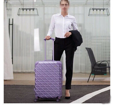 D926 Purple Lock Universal Wheel ABS+PC Travel Suitcase Luggage 22 Inches W