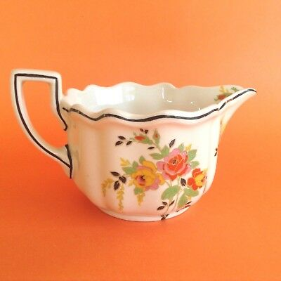 ANTIQUE ART DECO ROYAL DOULTON 1927-1936 ROSSLYN  GRAVY BOAT or MILK JUG D5399