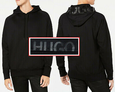 927097063 NWT HUGO (Hugo Boss Red Label) Oversized-Fit Stretch LOGO Hoodie Size 2XL