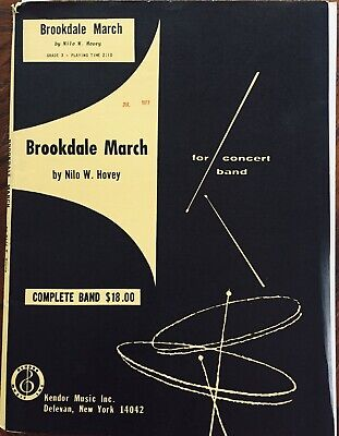 """""""Brookdale March"""" Nilo W. Hovey, Concert Band Sheet Music 1977"""