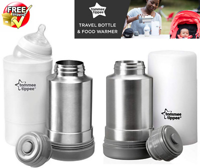Tommee Tippee Travel Food Warmer Portable BPA Free Fits Closer Nature Bottles