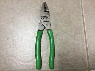 Snap on tools plier GREEN new combo plier slip joint talon grip GREEN snap-on