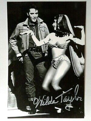 Wilda Taylor Authentic Hand Signed Autograph 4X6 Photo with ELVIS PRESLEY