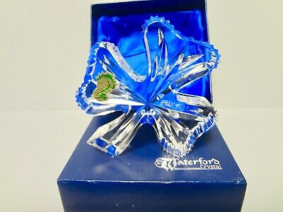 New In Box Waterford Crystal Shamrock Paperweight***mint**first Time Out Of Box