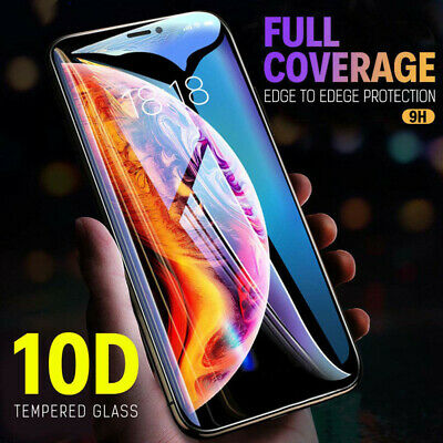10D Curved Screen Protector Tempered Glass Film For iPhone 6 7 8 Plus XS Max Xr