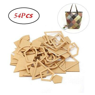 54 Pcs Quilter Styling Acryling DIY Tool Cloth Handmade Mixed Quilt Templates