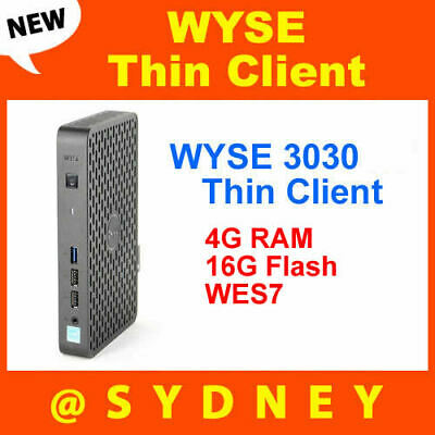 NEW DELL WYSE 3030 Thin Client: DUAL CORE - 4GB RAM - 16GB FLASH - WES7 TFDD0