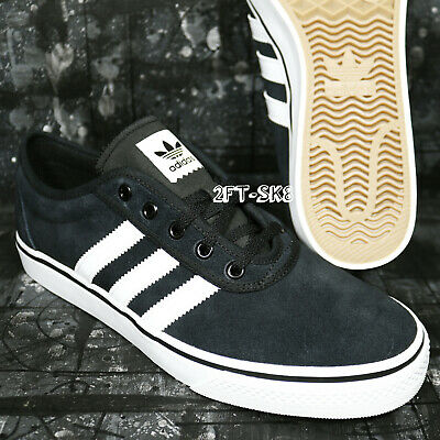 innovative design 3419d 262e3 Adidas Adi-Ease Black White Suede Mens Skate Shoes s91189.187