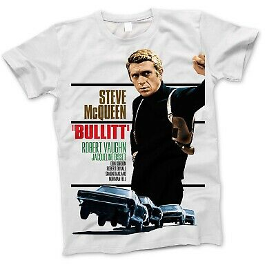Bullitt Steve McQueen Movie Film Retro Classic War Action Sci Fi T Shirt