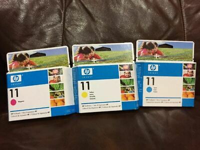 New expired 2008 Genuine HP 11 Colored Ink Printheads C4811A C4813A and C4812A