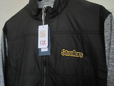 CUTTER   BUCK NFL PITTSBURGH STEELERS Stealth FULL ZIP JACKET Mens M NEW  w Tags 4b120b6b0