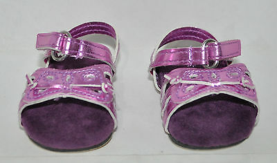 18 Inch Dolls Clothes fit American Girl Our Generation Gotz Purple Sandals Shoes