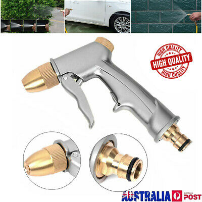 AU High Pressure Water Spray Gun Brass Nozzle Garden Hose Pipe Lawn Car Wash Pop