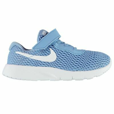 cbbf1d4e7814 Nike Tanjun Baskets Enfant Fille Bleu   Chaussures Blanches Chaussures