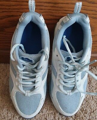 56bbaff436d X. Dr Comfort Victory Plus Series Blue white Womens Running Shoes Size 6 1