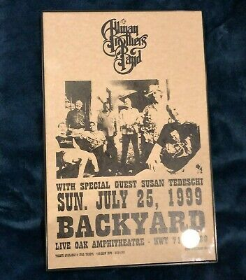 allman brothers poster framed