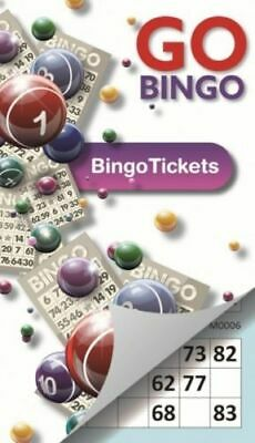 Bingo Tickets Pad Bold Number 6 Tickets Per Page 450 Tickets Go Gingo Game
