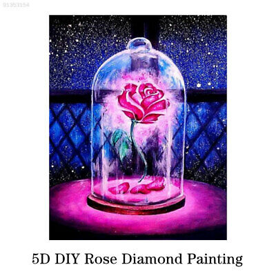 9CEA Shining Cross Stitch Embroidery Craft Everlasting Roses 5D Full Drill Gift