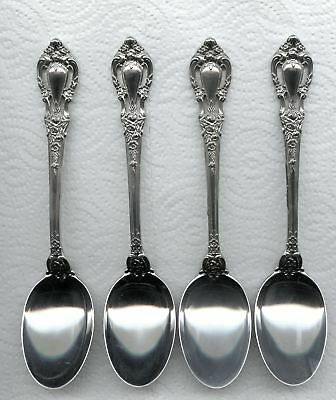 4 Eloquence Oval Soup Spoons 6-5/8 Inch by Lunt Sterling Silver