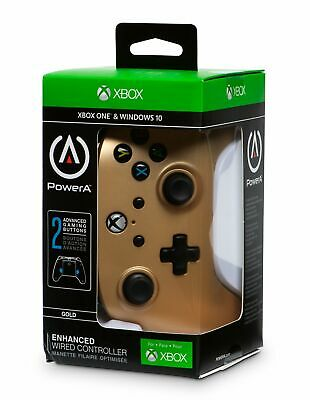 Gold Xbox One Enhanced Wired Controller by Power A - Gold *Hot*