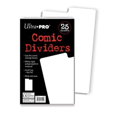 Ultra PRO Comic Book Dividers Index White 25ct 185 x 280mm