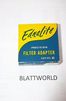 NEW OLD STOCK EDNALITE ROLLEIFLEX ROLLEI BAY III to SERIES VI 6 FILTER ADAPTER