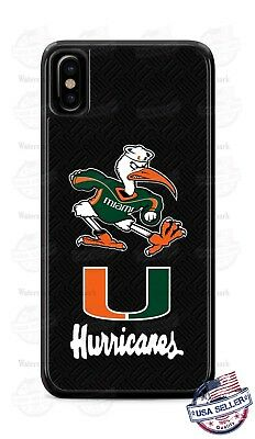 Miami Hurricanes Phone Case Cover for iPhone Xs Max XR Samsung LG Pixel etc